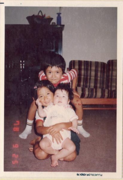大畑家3兄妹の子ども時代の写真